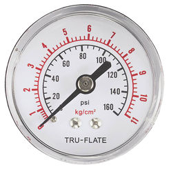 Click here to see Tru-Flate 24-801 Tru-Flate 24-801 Air Line Pressure Gauge, 1/8 in NPT, 0 - 200 psi
