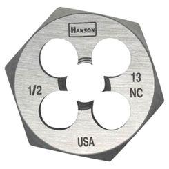 Click here to see Irwin 8461 Hanson 8461 Machine Screw Hexagonal Die, 7/8-9 NC, 1-7/16\