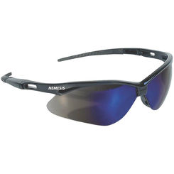 Click here to see Jackson 3000358 Nemesis V30 Safety Glass, Blue, Mirror Anti-Scratch Polycarbonate Lens, Black Nylon Frame