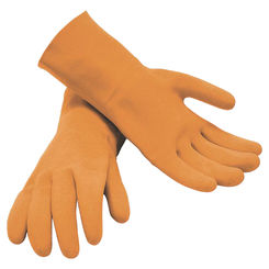 Click here to see M-D PRODUCTS 49142 M-D 49142 Grouting Protective Gloves, Latex, Orange