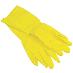 Click here to see Quickie 12141TRIRM Quickie 12141TRIRM Gloves, Yellow Latex, Medium