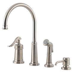 Click here to see Pfister LG26-4YPK Pfister LG26-4YPK Brushed Nickel Ashfield Single-Handle Kitchen Faucet