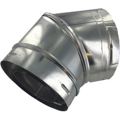 Click here to see M&G DuraVent 46DVA-E45 M&G DuraVent 4x6 DirectVent Pro 45 Degree Elbow - Galvanized - 46DVA-E45