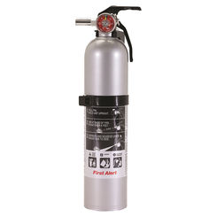 Click here to see First Alert DHOME1 First Alert DHOME1 Rechargeable Fire Extinguisher, 2.4 lb, Gray