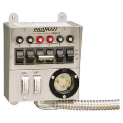 Click here to see Reliance 30216A Reliance 30216A Manual Transfer Switch, 125/250 V, 60 A, 7500 W, Gray