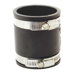 Click here to see Fernco P1056-22 Fernco 1056 Flexible Pipe Stock Coupling, 2 in x 3.451 in, Plastic, 4.3 psi, PVC