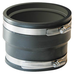 Click here to see Fernco P1070-44 Fernco 1070 Flexible Pipe Stock Coupling, 4 in x 3.94 in, ADS X Cast Iron/Plastic, 4.3 psi, PVC