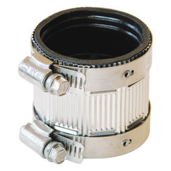 Click here to see Fernco PNH-150 Fernco PNH-150 Flexible Pipe Coupling, 1-1/2 in x 2.13 in, No Hub, 4.3 psi, PVC