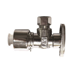 Click here to see Plumb Pak K2622PCPOLF Plumb Pak K2622PCPOLF 1/4 Turn Quick Lock Angle Supply Line Valve, 5/8 X 3/8 in, OD, Chrome Plated