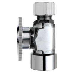 Click here to see Plumb Pak PP53-1PCLF Plumb Pak PP53-1PCLF 1/4 Turn Straight Shut-Off Valve, 1/2 X 1/2 in, FIP X OD, Brass Body, Chrome Plated
