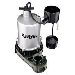 Click here to see Flotec FPZT7350 Flotec FPZT7350 High Output Submersible Sump Pump With Vertical Float Switch, 6000 gph, 1/2 hp