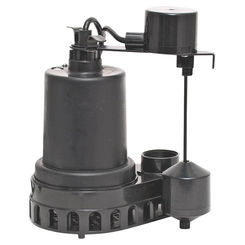 Click here to see Superior 92572 Superior 92572 High Capacity Sump Pump, 55 gpm, 1/2 hp, 120 V, Thermoplastic 1-1/2 in Outlet, 25 ft Maximum Head