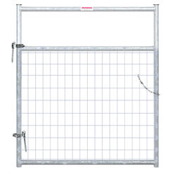 Click here to see Behrens 40183048 Behrens 40183048 Wire Filled Gate, 1-5/8 in, 50 in W X 4 ft H, 20 ga Steel