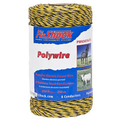 Click here to see Fi-Shock PW656Y6-FS Fi-Shock PW656Y6-FS Electric Fence Polywire, 656 Foot Roll
