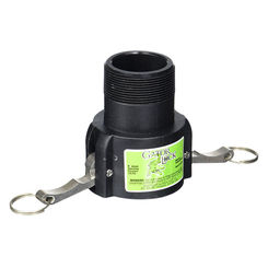 Click here to see Green Leaf GLP200BNL Gator Lock GLP200BNL Cam Lever Non-Locking Hose Coupling, 2 in, Female Coupler x MNPT, 125 psi, Polypropylene