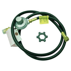 Click here to see Mr Heater F273071 Mr Heater F273071 High Pressure Propane Hose/Regulator Assembly, 5 ft, 600 psi, 3/8 in, Brass