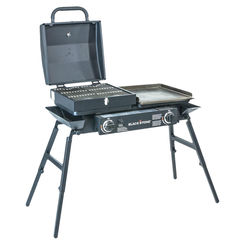 Click here to see North Atlantic 1555 Blackstone 1555 Tailgater Grill Combo, Griddle + Grill, Liquid Propane
