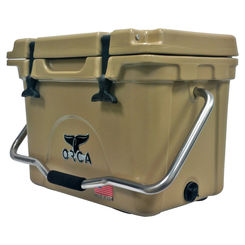 Click here to see Orca ORCT020 ORCA ORCT020 Roto-Molded Cooler, 20 qt, Up To 10 Days Ice Retention Time, Premium Insulation, 19 in L x 13-3/4 in W