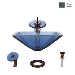 Click here to see Elkay R5-5003-CEL-WF-ORB Rene By Elkay R5-5003-CEL-WF-ORB Celeste Colored Glass Vessel Sink Kit