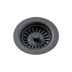 Click here to see Elkay LKQS35GY Elkay Polymer Drain Fitting with Removable Basket Strainer and Rubber Stopper Dusk Gray - LKQS35GY