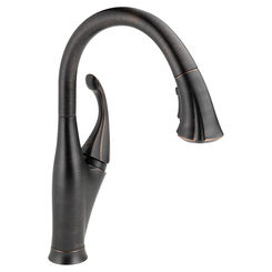 Click here to see Delta 9192-RB-DST Delta 9192-RB-DST Addison Single Handle Pull-Down Kitchen Faucet w/ ShieldSpray - Venetian Bronze