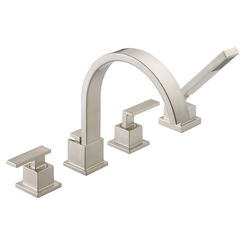 Click here to see Delta T4753-SS Delta T4753-SS Vero Roman Tub Faucet Trim with Handshower - Stainless