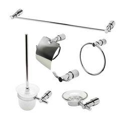 Click here to see Alfi AB9508-PC ALFI AB9508-PC 6-Piece Matching Bathroom Accessory Set, Polished Chrome