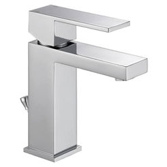 Click here to see Delta 567LF-HGM-PP DELTA 567LF-HGM-PP Modern Single Handle Project Pack Faucet - 0.5 gpm, Chrome