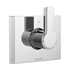 Click here to see Delta T11899 Delta T11899 Pivotal 3-Setting 2-Port Diverter Trim - Polished Chrome
