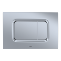 Click here to see Toto YT920#MS TOTO Square Dual Button Push Plate for RP In-Wall Tank,  Matte Silver - YT920#MS