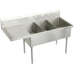 Click here to see Elkay SS8372L2 Elkay SS8372L2 Triple Bowl Stainless Steel Scullery Sink