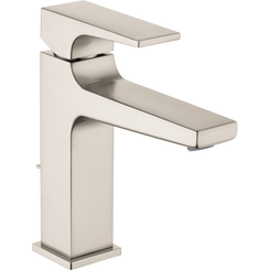 Click here to see Hansgrohe 32506821 Hansgrohe 32506821 Metropol Single-Hole Faucet 110 with Lever Handle and Pop-Up Drain, Brushed Nickel