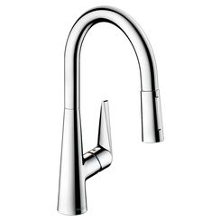 Click here to see Hansgrohe 72813001 Hansgrohe 72813001 Talis S  Pull-Down High Arc Kitchen Faucet, Chrome