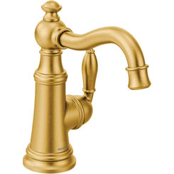 Click here to see Moen S62101BG Moen S62101BG Weymouth One-Handle Kitchen Faucet, Brushed Gold