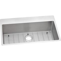 Click here to see Elkay ECTSRS33229TBG0 Elkay ECTSRS33229TBG0 Crosstown Stainless Steel Single Bowl Dual Mount Sink Kit