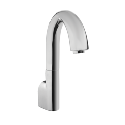 Click here to see Toto TEL163-D20EM#CP Toto Gooseneck Wall-Mount ECOPOWER 0.35 GPM Electronic Touchless Sensor Bathroom Faucet with Mixing Valve, Polished Chrome - TEL163-D20EM#CP