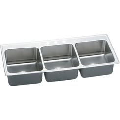 Click here to see Elkay LTR6322102 Elkay LTR6322102 Lustertone Triple Bowl Top Mount Stainless Steel Sink