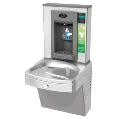 Click here to see Oasis PGV8EBF Oasis PGV8EBF Versacooler II w/ Bottle Filler - 8 GPH, Hands Free, Vandal Resistant, Stainless
