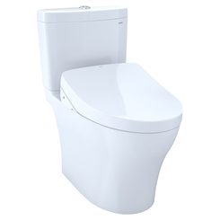 Click here to see Toto MW4463046CUMGA#01  TOTO Aquia  IV 1G -  WASHLET+ S500e Two-Piece Toilet - 1.0  GPF & 0.8  GPF - Cotton White - MW4463046CUMGA#01