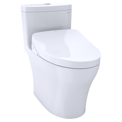 Click here to see Toto MW6463056CEMFGA#01 TOTO WASHLET+ Aquia IV One-Piece Elongated Dual Flush 1.28 and 0.8 GPF Toilet with Auto Flush S550e Bidet Seat, Cotton White - MW6463056CEMFGA#01