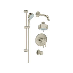 Click here to see Grohe 35055EN1 Grohe 35055EN1 GrohFlex Atrio Pressure Balance Shower Set, Brushed Nickel