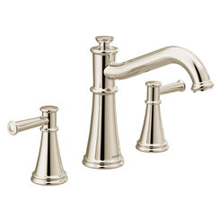 Click here to see Moen T9023NL Moen T9023NL Belfield Two-Handle Non Diverter Roman Tub Faucet - Polished Nickel