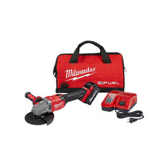 Click here to see Milwaukee 2981-21 Milwaukee 2981-21 M18 FUEL Grinder Slide Switch Lock On 1 Battery Kit