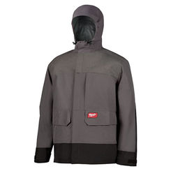 Click here to see Milwaukee 310G-3X Milwaukee 310G-3X RainShell Jacket Only, Gray with Black, 3X - HydroBreak