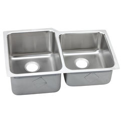Click here to see Elkay ELUH3120R Elkay ELUH3120R Lustertone Classic Offset Double-Bowl Undermount Sink, Stainless Steel - Lustrous Satin
