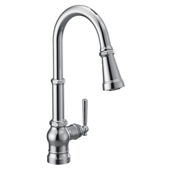 Click here to see Moen S72003EVC Moen S72003EVC Paterson One-Handle Voice Activated Pulldown Kitchen Faucet - Chrome