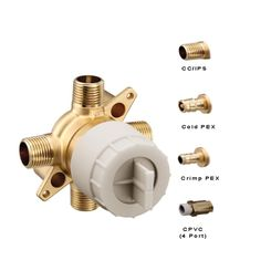 Click here to see Moen U140X-PF Moen U140X-PF M-CORE Tub/Shower Rough In Valve Prefab, PEX Connection