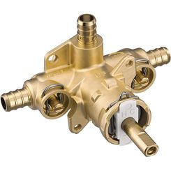 Click here to see Moen 2326PF Moen 2326PF Posi-TempShower Rough-In Valve - 3 Port PEX w/ Stops