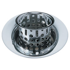 Click here to see Delta 72011 Brizo 72011 Polished Chrome Bar/Prep Sink Flange And Strainer