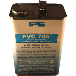 Click here to see   PVC 705 White Plastic Pipe Cement 1 Gallon